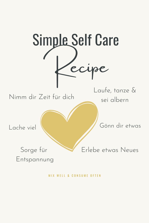 Rezept für Selbstfürsorge - sei gut zu dir