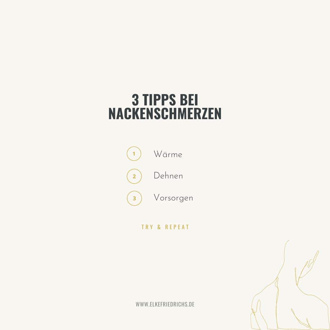 Nackenschmerzen - die 3 Tipps