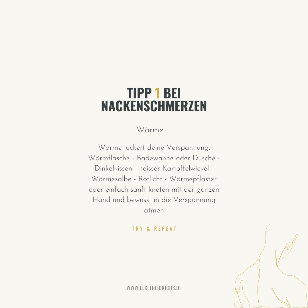 Tipp 1 bei Nackenverspannung